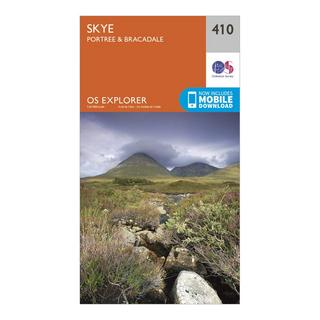 Explorer 410 Skye - Portree & Bracadale Map With Digital Version