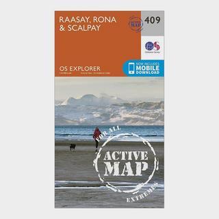Explorer Active 409 Rasaay, Rona & Scalpay Map With Digital Version