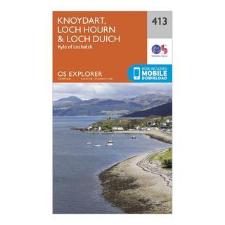 Explorer 413 Knoydart, Loch Hourn & Loch Duich Map With Digital Version