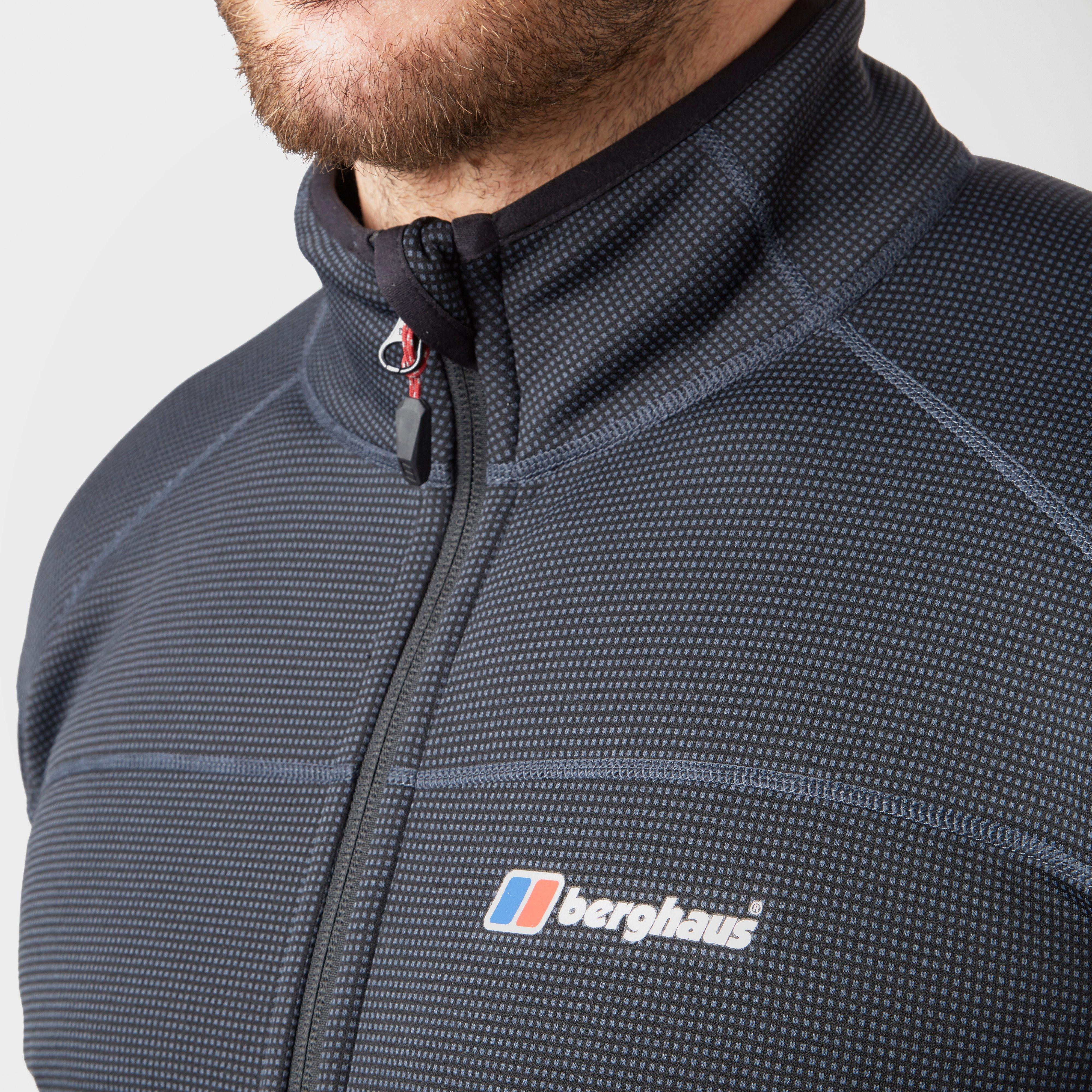 Grey//Black Berghaus Men/'s Pravitale Mountain 2.0 Fleece Jacket