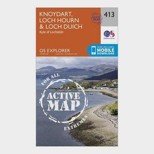 ORDNANCE SURVEY Explorer Active 413 Knoydart, Loch Hourn & Loch Duich Map With Digital Version