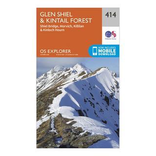 Explorer 414 Glan Shiel & Kintail Forest Map With Digital Version