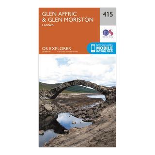 Explorer 415 Glen Affric & Glen Moriston Map With Digital Version