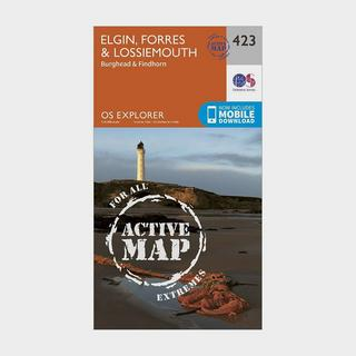 Explorer Active 423 Elgin, Forres & Lossiemouth Map With Digital Version