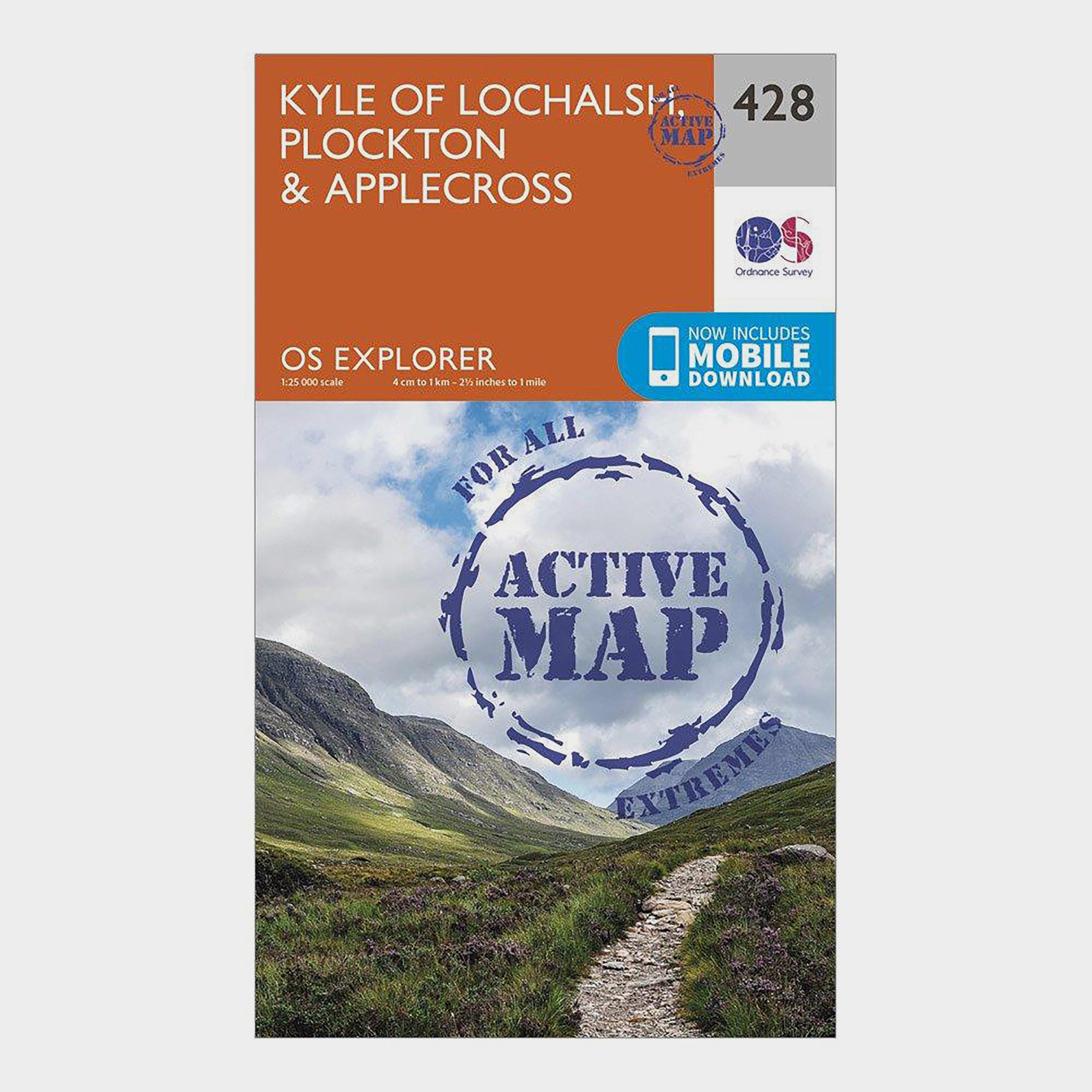 Image of Ordnance Survey Explorer Active 428 Kyle Of Lochalsh, Plockton & Applecross Map With Digital Version - Orange/D, Orange/D
