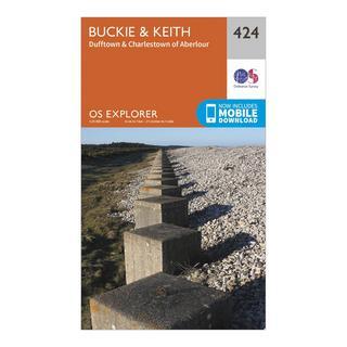Explorer 424 Buckie & Keith Map With Digital Version