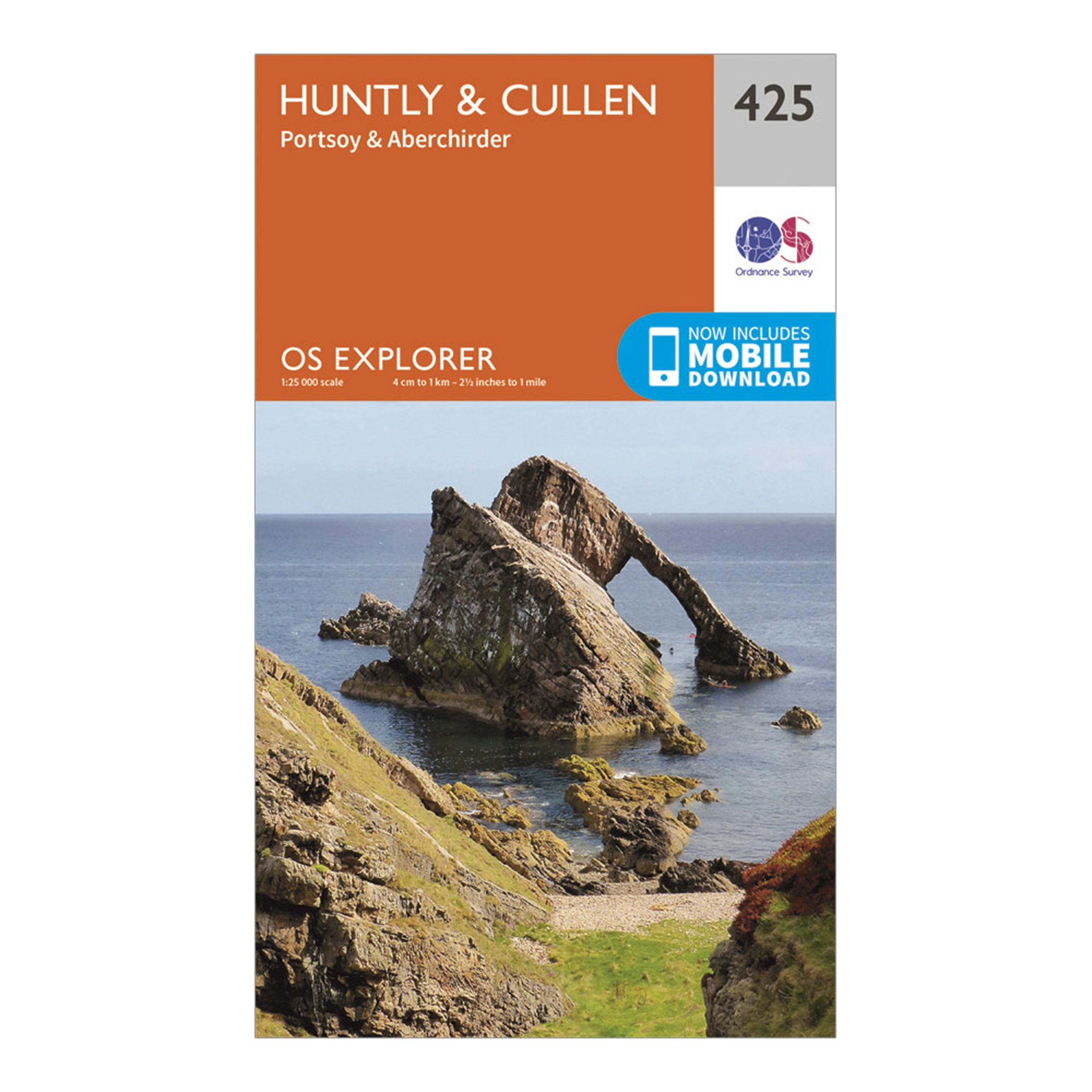 Ordnance Survey Explorer 425 Huntly & Cullen Map With Digital Version, N/A