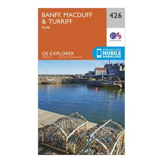 Explorer 426 Banff, Macduff & Turriff Map With Digital Version