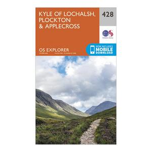 ORDNANCE SURVEY Explorer 428 Kyle of Lochalsh, Plockton & Applecross Map With Digital Version