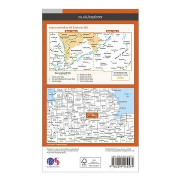 Orange Ordnance Survey Explorer 260 Nottingham Map With Digital Version