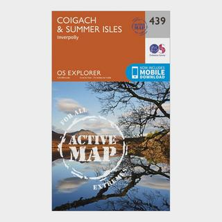 Explorer Active 439 Coigach & Summer Isles Map With Digital Version