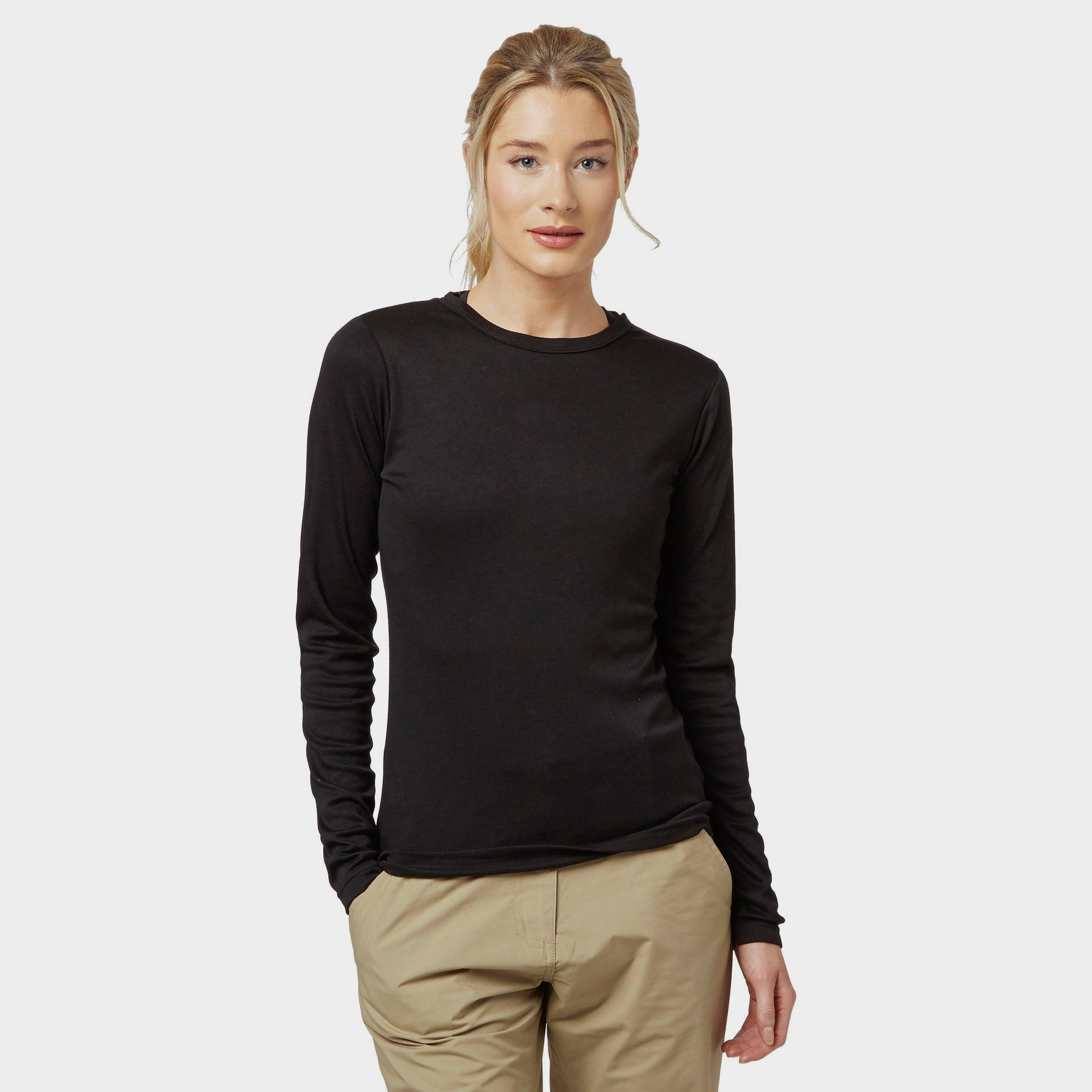 Peter Storm Womens Long Sleeve Thermal Crew Baselayer Black