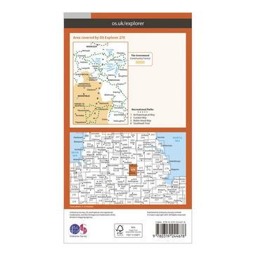 Orange Ordnance Survey Explorer 270 Sherwood Forest Map With Digital Version
