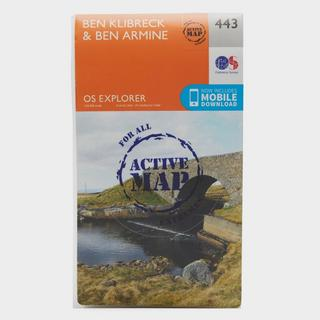 Explorer Active 443 Ben Klibreck & Ben Armine Map With Digital Version