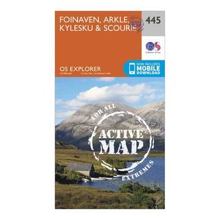 Explorer Active 445 Foinaven, Arkle, Kylesku & Scourie Map With Digital Version