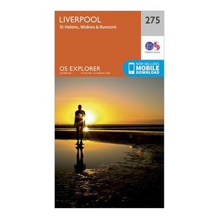 Explorer 275 Liverpool, St Helens, Widnes & Runcorn Map With Digital Version