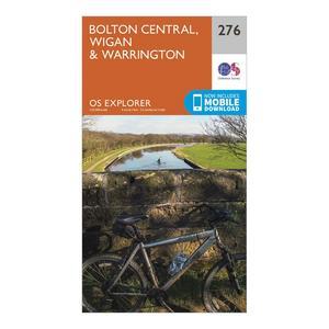 ORDNANCE SURVEY Explorer 276 Bolton, Wigan & Warrington Map With Digital Version