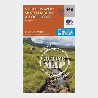 Explorer Active 448 Strath Naver & Loch Loyal Map With Digital Version