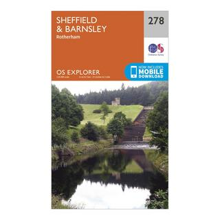 Explorer 178 Sheffield & Barnsley Map With Digital Version