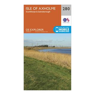 Explorer 280 Isle of Axholme, Scunthorpe & Gainsborough Map With Digital Version