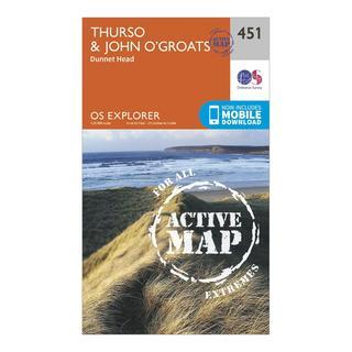 Explorer Active 451 Thurso & John o'Grates Map With Digital Version