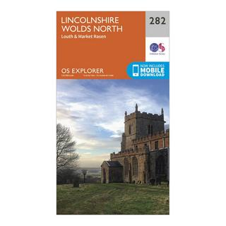 Explorer 282 Lincolnshire Wolds North Map With Digital Version