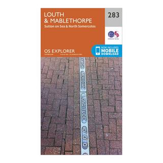 Explorer 283 Louth & Mablethorpe Map With Digital Version