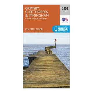 Explorer 284 Grimsby, Cleethorpes & Immingham Map With Digital Version