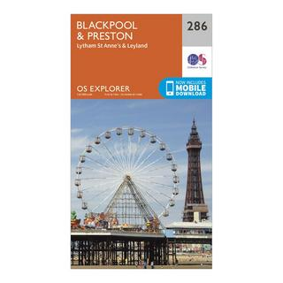 Explorer 286 Blackpool & Preston Map With Digital Version