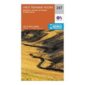ORDNANCE SURVEY Explorer 287 West Pennine Moors, Blackburn, Darwen & Accrington Map With Digital Version