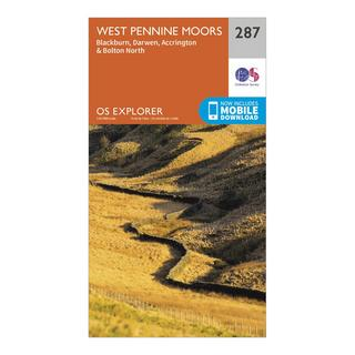 Explorer 287 West Pennine Moors, Blackburn, Darwen & Accrington Map With Digital Version