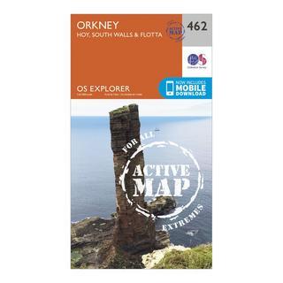 Explorer Active 462 Orkney - Hoy, South Walls & Flotta Map With Digital Version