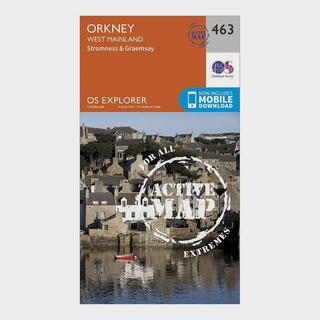 Explorer Active 463 Orkney - West Mainland Map With Digital Version