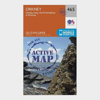 Explorer Active 465 Orkney - Sanday, Eday, North Ronaldsay & Stronsay Map With Digital Version