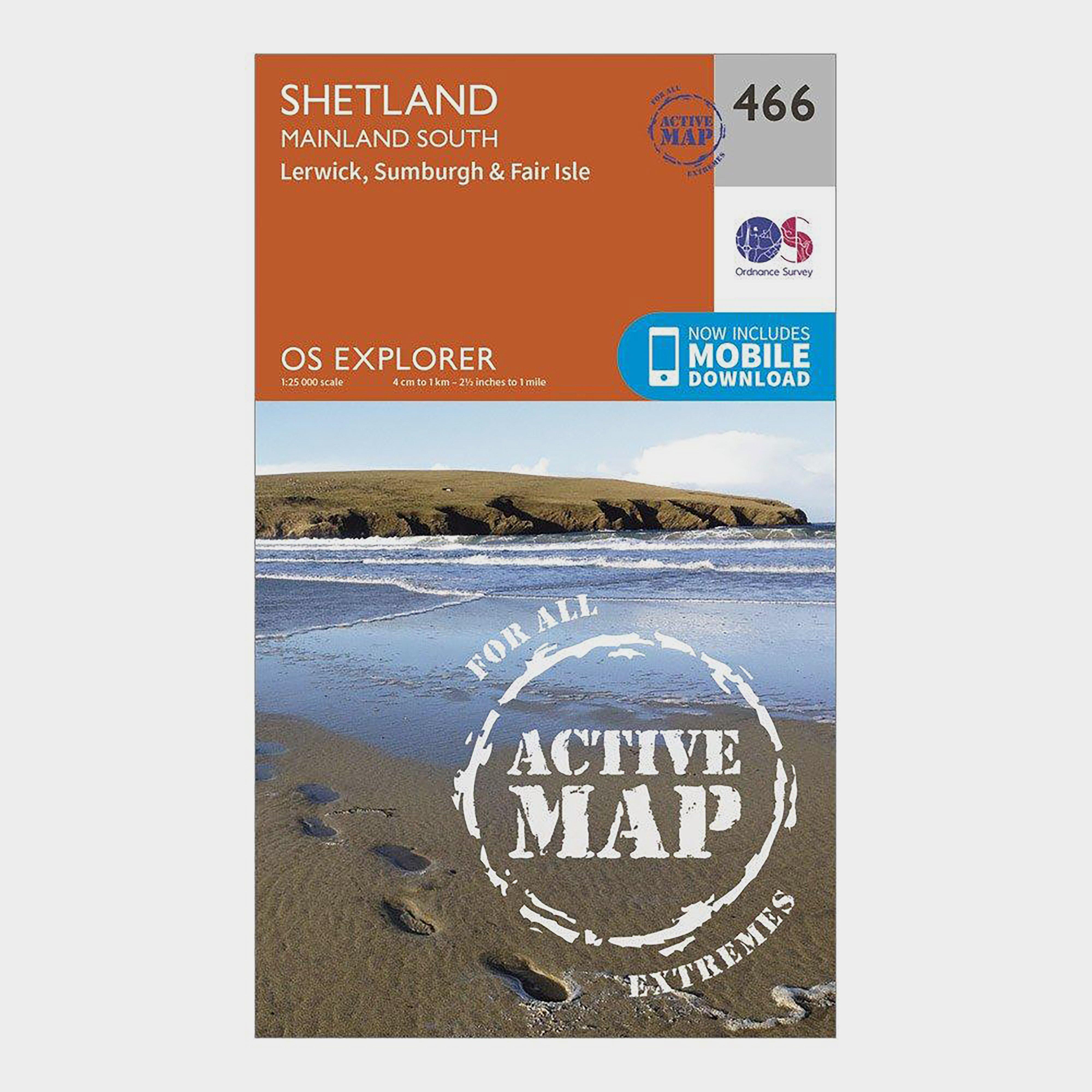 Image of Ordnance Survey Explorer Active 476 Shetland - Mainland South Map With Digital Version - D/D, D/D