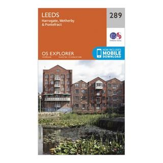 Explorer 289 Leeds Map With Digital Version
