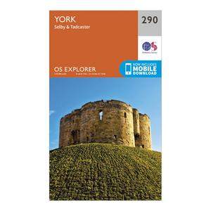ORDNANCE SURVEY Explorer 290 York Map With Digital Version