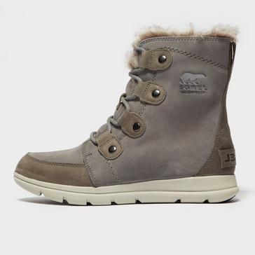 Grey Sorel Women's Explorer Joan Boot