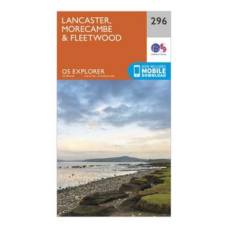 Explorer 296 Lancaster, Morecambe & Fleetwood Map With Digital Version