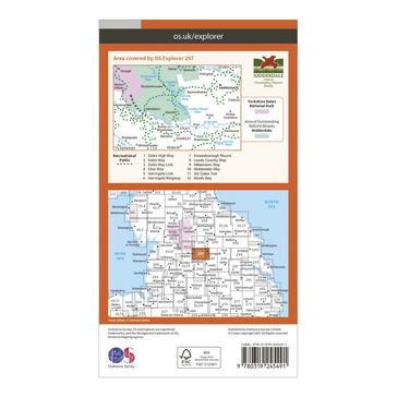 Orange Ordnance Survey Explorer 297 Lower Wharfedale & Washburn Valley Map With Digital Version