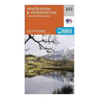 Explorer 303 Whitehaven & Workington Map With Digital Version