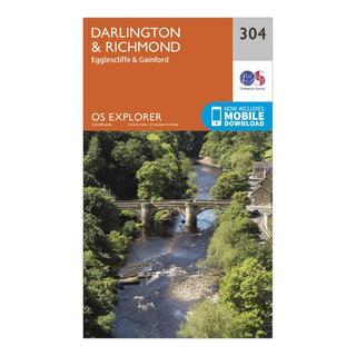 Explorer 304 Darlington & Richmond Map With Digital Version