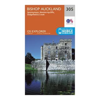 Explorer 305 Bishop Auckland Map With Digital Version