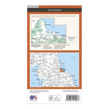 Orange Ordnance Survey Explorer 306 Middlesbrough & Hartlepool Map With Digital Version