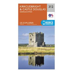 ORDNANCE SURVEY Explorer 312 Kirkcudbright & Castle Douglas Map With Digital Version