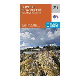 Explorer 313 Dumfries & Dalbeattie Map With Digital Version