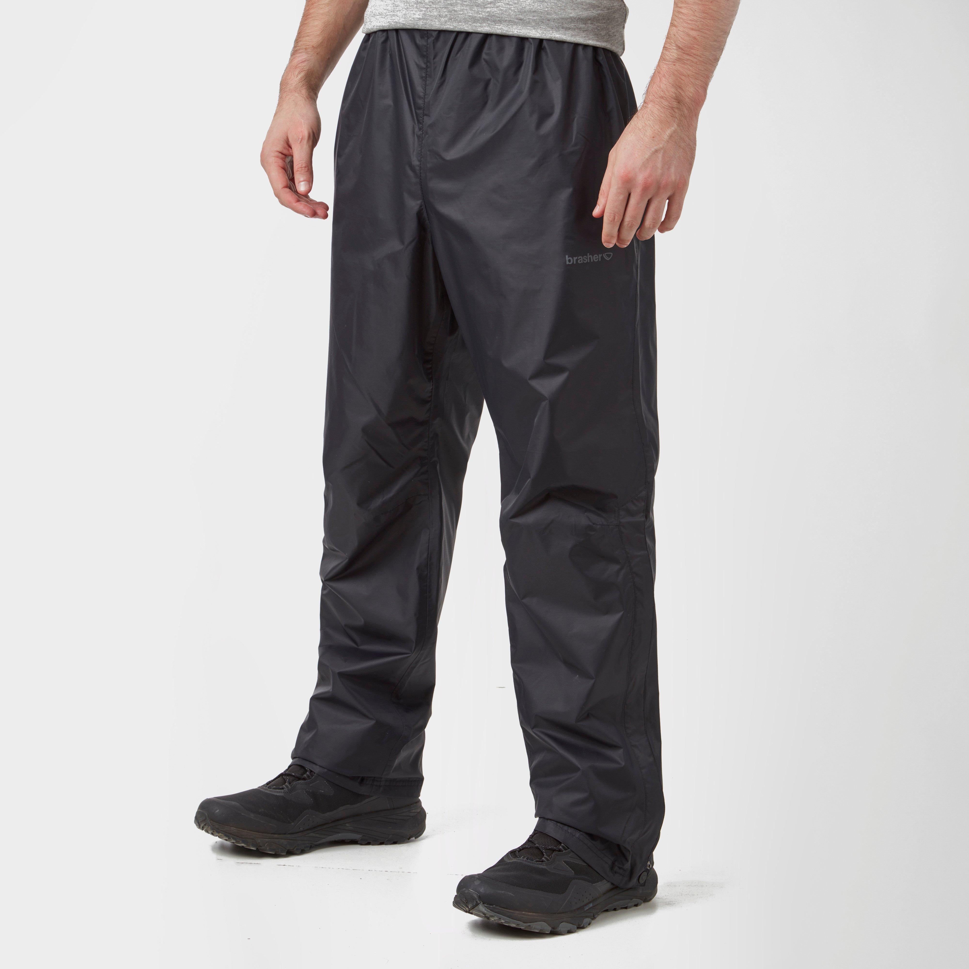 Brasher Brasher Mens Waterproof Overtrousers - Black, Black
