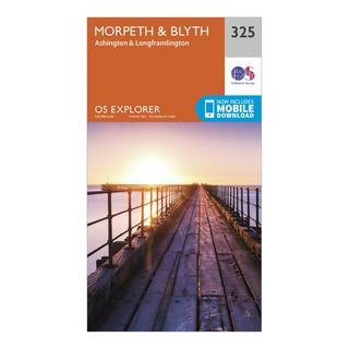 Explorer 325 Morpeth & Blyth Map With Digital Version