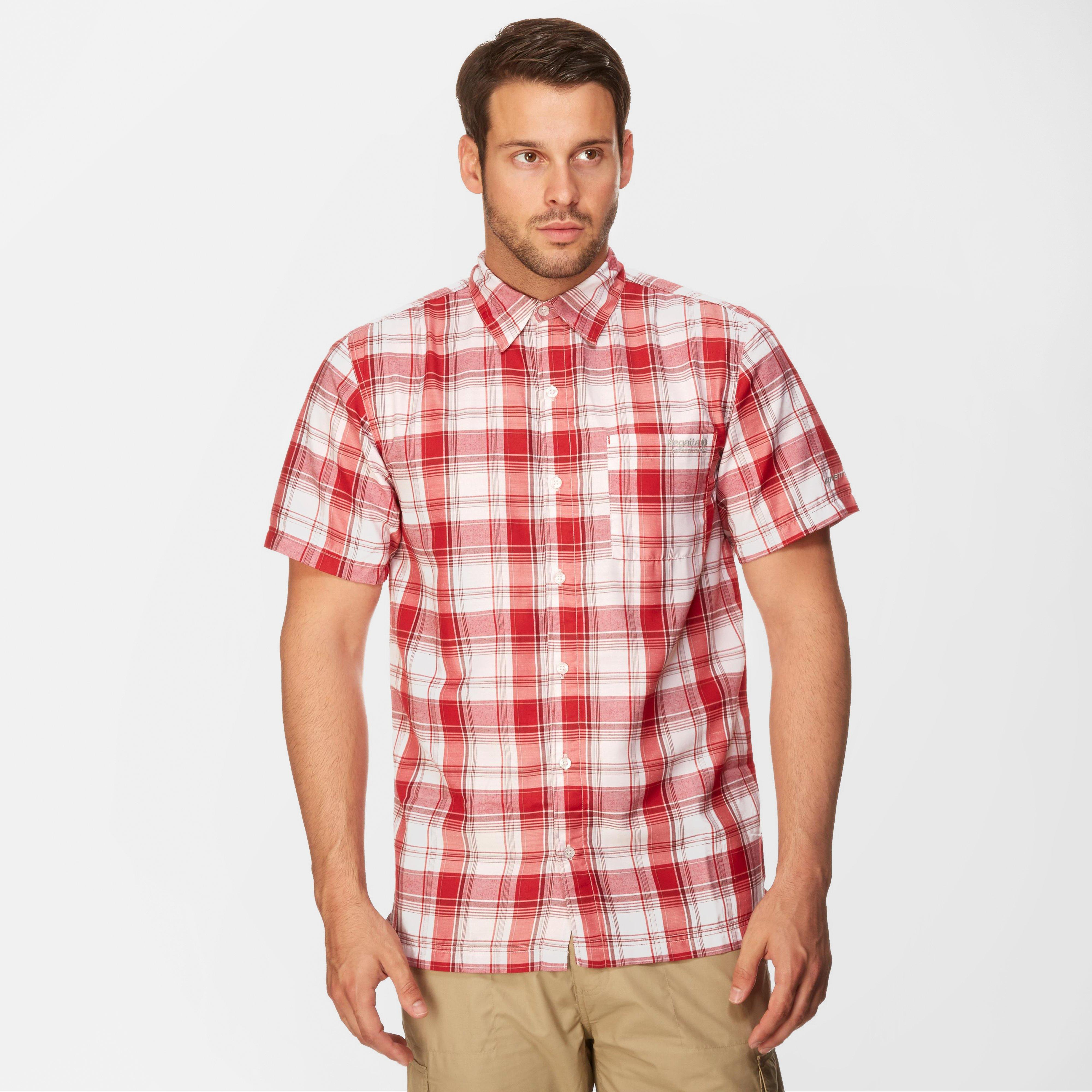 Regatta Regatta Mens Brennen Short Sleeve Shirt - Red, Red
