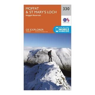 Explorer 330 Moffat & St Mary's Loch Map With Digital Version
